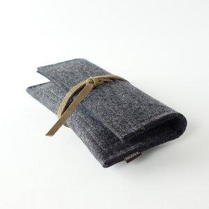 Tabaktasche aus Filz mit Lederband 'max' - matilda k. manufaktur