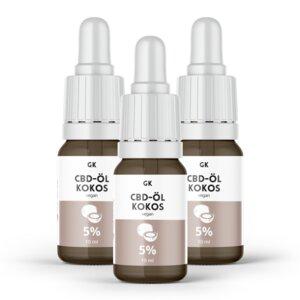 5% 3er Pack CBD Öl Vollspektrum Kokos - 500mg CBD - Grinsekatzen