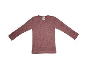 Bio-Langarmshirt in Rippstruktur aus Seide/Wolle/Baumwolle - Cosilana