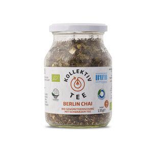 KollektivTee Berlin Chai - Bio-Gewürzteemischung mit schwarzem Tee im Mehrwegglas - KollektivTee