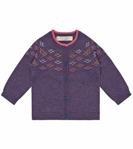 Bunte Baby Strickjacke lila - Sense Organics & friends in cooperation with GARY MASH