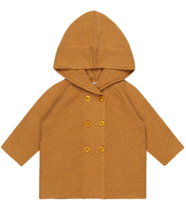 Baby Strickjacke mit Kapuze in Karamell - Sense Organics & friends in cooperation with GARY MASH
