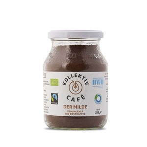 KollektivCafé Der Milde - gemahlener Bio-Röstkaffee im Mehrwegglas - KollektivCafé