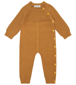 Baby Bio Strickoverall in Karamell - Sense Organics & friends in cooperation with GARY MASH