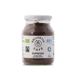 KollektivCafé Espresso - gemahlener Bio-Röstkaffee im Mehrwegglas - KollektivCafé