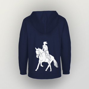 "Unisex Kinder Zip Up Hoody ""Galopp"" - HANDGEDRUCKT"