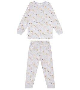 Kinder Schlafanzug mit Bäumen, lila - Sense Organics & friends in cooperation with GARY MASH