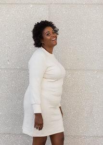 Pulloverkleid TANA aus Bio Baumwolle Jaquard - Daniela Salazar