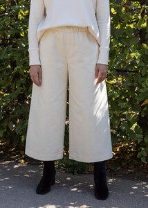 Culotte Hose TRIADIC aus Bio-Baumwolle Ecru - Daniela Salazar