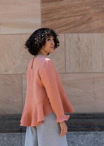Langarm Bluse MARA aus Hanf - Daniela Salazar