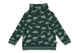 Kragen Sweatshirt Dinosaurier tanne salbei - Enfant Terrible