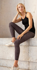 LEGGINGS SHIBORI HEARTS - OGNX
