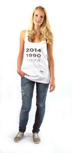 WM Tanktop '1954,1974, 1990, 2014' aus Bio-Baumwolle + Fairtrade - von Anagram - anagram