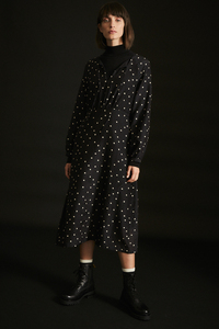Kleid mit Schnürung aus Bio-Baumwolle mit Seide - LANIUS