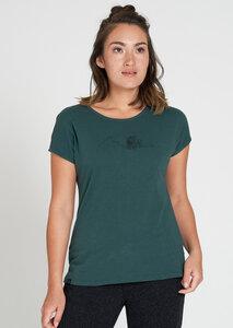 Print Damen T-Shirt aus Bio Baumwolle grün | Casual T-Shirt #BEAR - recolution