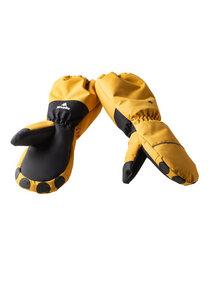 Handschuhe Kinder aus recyceltem Polyester LIODO Löwe braun - WeeDo