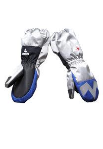 Handschuhe Kinder aus recyceltem Polyester POWDO Commander blau-silber - WeeDo