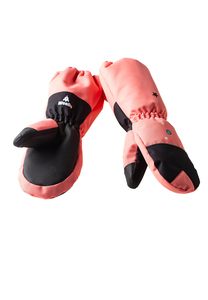 Handschuhe Kinder aus recyceltem Polyester UNIDO Einhorn rosa - WeeDo