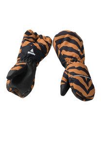 Handschuhe Kinder aus recyceltem Polyester TIGERDO Tiger braun - WeeDo