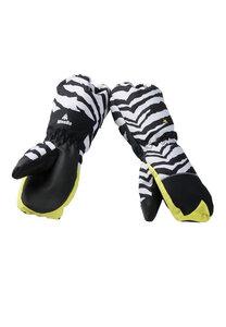 Handschuhe Kinder aus recyceltem Polyester ZEEDO Zebra schwarz-weiß - WeeDo