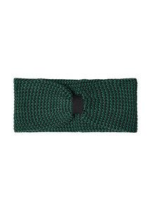 Stirnband aus Bio Baumwolle grün/schwarz | Knit Headband #MOULINE - recolution