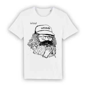 Bedrucktes Herren T-Shirt aus Bio-Baumwolle SÄNGER - karlskopf