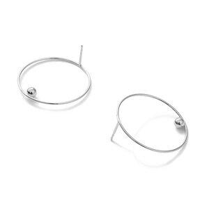 Stecker EFFECT 30, Silber 925, Sterlingsilber, Durchmeser 30 mm, Handmade in Germany, JRJ - Jonathan Radetz Jewellery