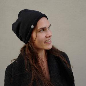 Bio Mütze Baumwolle SWEAT BEANIE - grau, schwarz, petrol, rosa, gelb,  - LDP Homemade