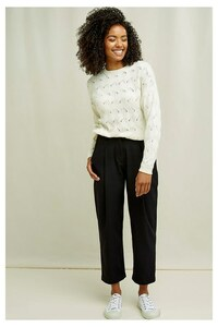 Merino Pullover - Clyde Lace Knit Jumper - People Tree