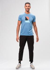 Print Herren T-Shirt #Reco aus Bio Baumwolle blau | Casual T-Shirt #RECO - recolution
