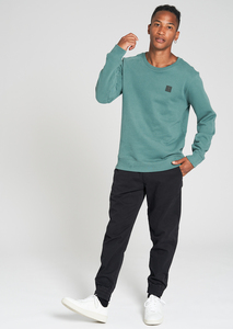 Herren Sweatshirt aus Bio Baumwolle eukalyptus | Casual Sweatshirt - recolution