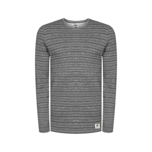 Striped Sweater Hanf Grau - bleed