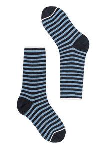 Gestreifte Socken aus Bio Baumwolle navy/blau | Basic Socks #STRIPES - recolution