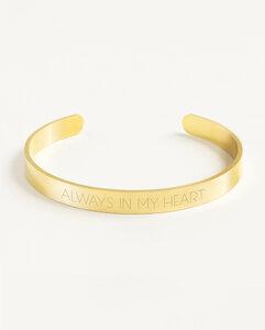 Armreif Statement »Always in my heart« | Edelstahl in d. Farben Gold, Silber oder Roségold - Oh Bracelet Berlin