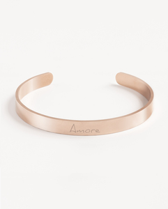Armreif Statement »Amore« | Edelstahl in d. Farben Gold, Silber oder Roségold - Oh Bracelet Berlin