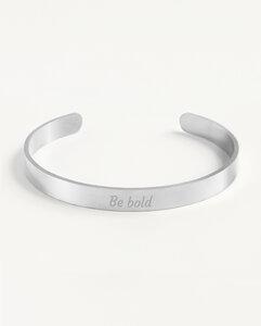 Armreif Statement »Be bold« | Edelstahl in d. Farben Gold, Silber oder Roségold - Oh Bracelet Berlin