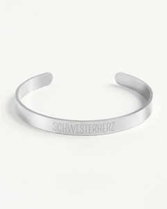 Armreif Statement »Schwesterherz« | Edelstahl in d. Farben Gold, Silber oder Roségold - Oh Bracelet Berlin