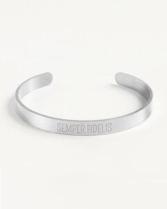 Armreif Statement »Semper Fidelis« | Edelstahl in d. Farben Gold, Silber oder Roségold - Oh Bracelet Berlin