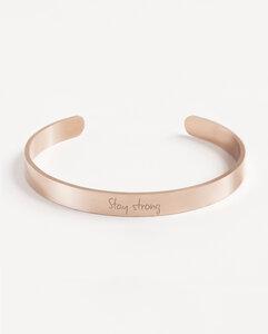 Armreif Statement »Stay strong« | Edelstahl in d. Farben Gold, Silber oder Roségold - Oh Bracelet Berlin