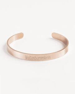 Armreif Statement »Weltenbummlerin« | Edelstahl in d. Farben Gold, Silber oder Roségold - Oh Bracelet Berlin