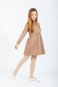 Bio-Baumwolle Kleid Andromeda mit Sternbild-Allover-Print - Peter Jo Kids