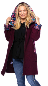 Milchshake Woman LUISA Wollwalkmantel (Merinowolle) mit Kapuze 100 % made in Germany - Milchshake