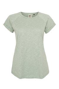 Frauen Raglan Slub Shirt aus Biobaumwolle Hergestellt in Portugal - ilovemixtapes