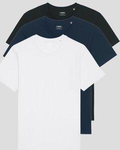 3er Pack Basic Unisex T-Shirt aus Bio Baumwolle   viele Farbkombinationen   Fair Trade   Nachhaltig - YTWOO