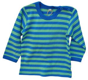Langarmshirt Baby Leela Cotton Streifen blau grün unisex - Leela Cotton