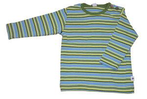 Langarmshirt Baby Leela Cotton Streifen mehrfarbig grün unisex - Leela Cotton