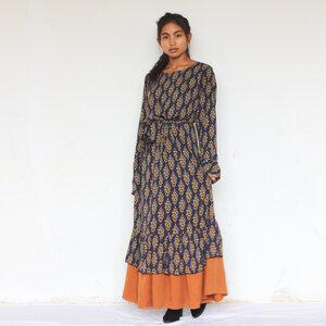 Florales Kleid Asir aus Viskose - ManduTrap