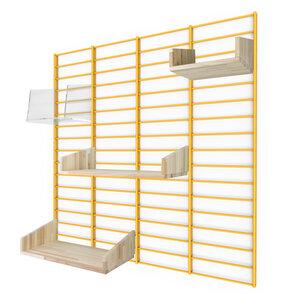 Nachhaltiges Wandregal FENCY - Paket mit Stecksystem 80 x 80 cm - Tolhuijs Design