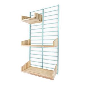 Nachhaltiges Wandregal FENCY - Paket mit Stecksystem 80 x 40 cm  - Tolhuijs Design