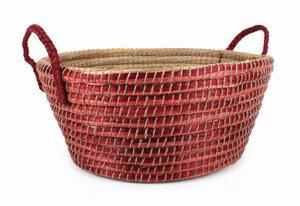Ovaler Korb mit Griffen aus Kaisa-Gras - El Puente